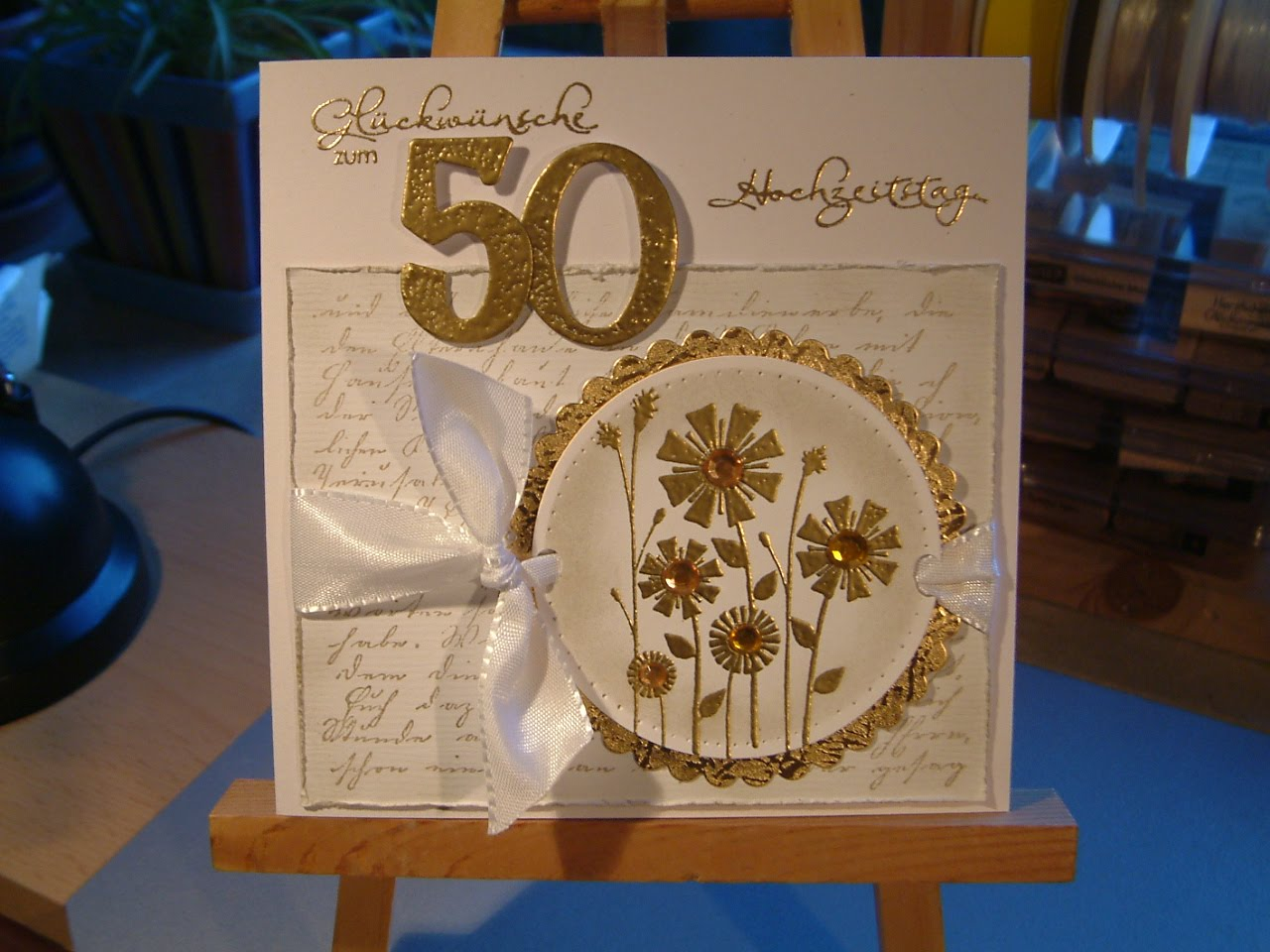 Einladung Goldene Hochzeit Selbst Gestalten » Beste Produkte Karten Selber  Ba... Basteln Goldene Hochzeit