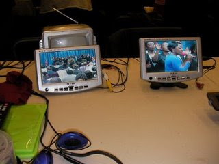 2 church video monitors