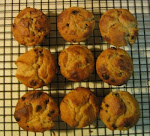 Whole Wheat Maple Walnut Muffins with Currants