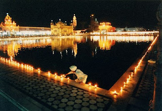 Golden Temple in Diwali