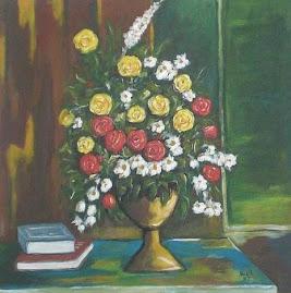 زهور وكتابين