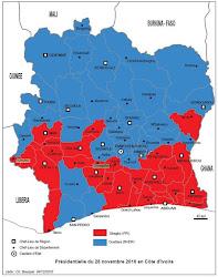 Carte Electoral de la présidentielle 2010 par Département