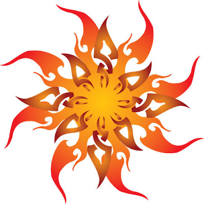 Tribal Sun Tattoo Picture