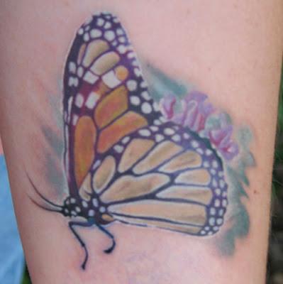 Flowers Tattoos Monarch 09 Butterfly