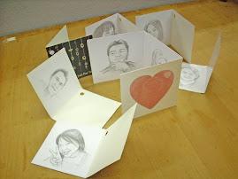 potret di lukis dalam kad hari jadi size 3 x 3 inci