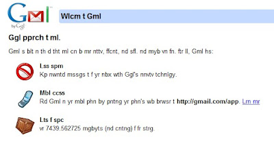 Gmail April Fool's Joke 2010