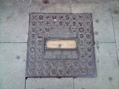 Barcelona Sights - London Bar Floor Plaque