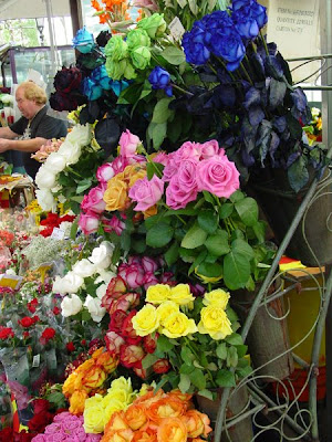 Barcelona Sights - Sant Jordi flower stalls on Las Ramblas