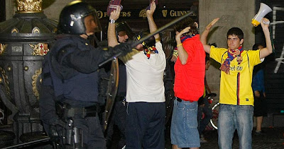 Disturbances at Plaça Catalunaya - Image rights rtve España