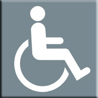 Barcelona Sights - International Wheelchair Symbol