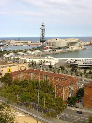 View from Miramar Cable Car towards Barceloneta - Barcelona Sights