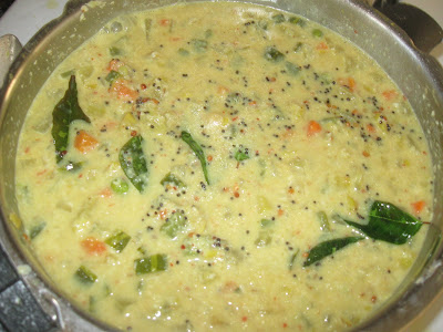 Podalanka Koottu with snake gourd and coconut