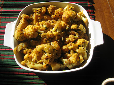 Cauliflower Curry with spices.
