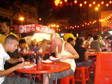 Night eating scene in Kuala Lumpur - February 2008