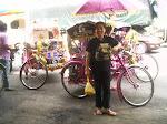 Colourful Trishaws in Tregannu - Malaysia February 2008