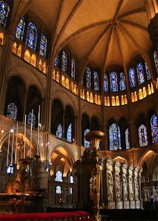 Vitralls del Cor de l'Abadia de Saint Rémi, a Reims (segle XIII).