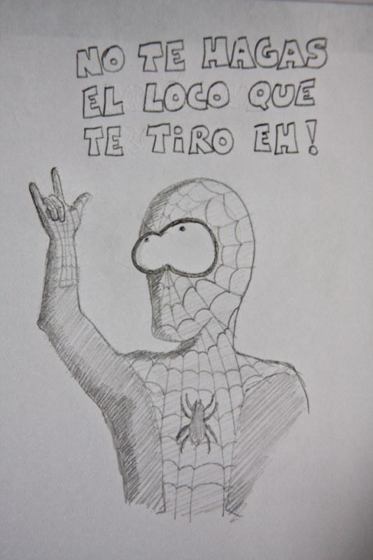 Blog de caricaturas: El hombre que araña