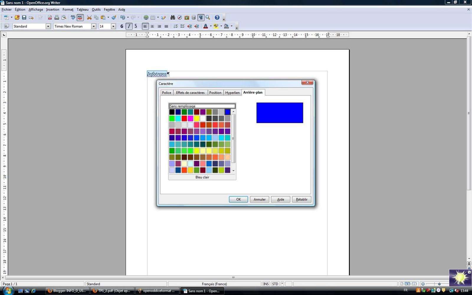 Info d usage arriere plan openoffice - Arriere plan open office writer ...
