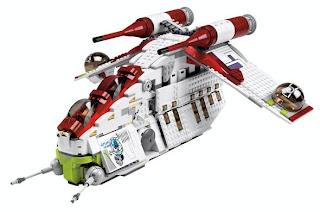 Clear photos of 7676 Republic Gunship, Star Wars Lego Collectables Blog