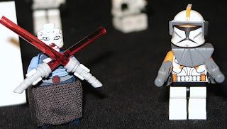 7676 Asajj Ventress Commander Cody - star wars lego minifigures