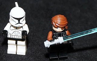 7675 Anakin Skywalker and clone trooper star wars lego minifigures