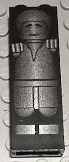 Lego Star Wars Mini-Figure Han Solo In Carbonite Block