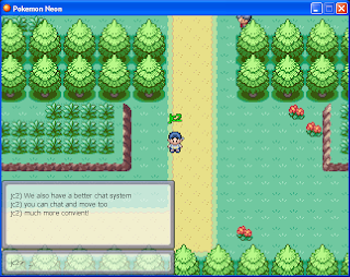 free online pokemon games - pokemon neon chat system screenshot