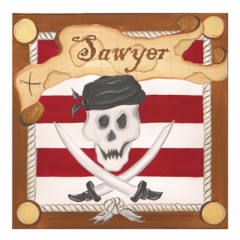 pirate Personalized Children's Wall Art