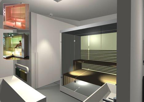 Woonschip gerealiseerd op de houthavenkade interieur badkamer for Interieur badkamer