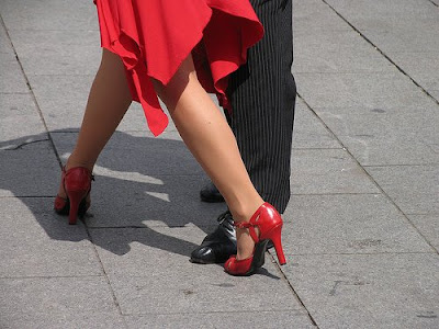 Red Tango Dance Shoes