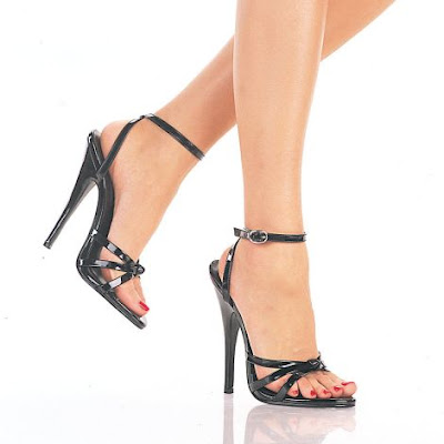 6'' Heel Strappy Ankle Wrap Sandals