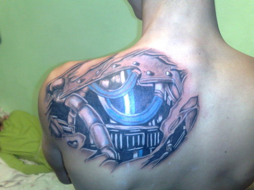 Biomechanical Tattoo on the back