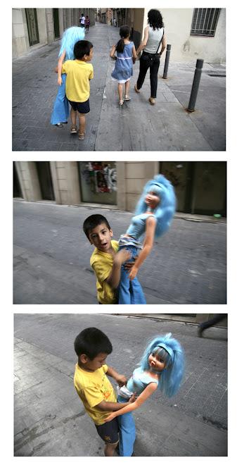 Barbie blue sale de paseo con la familia