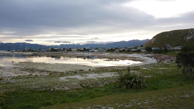 El efecto de la luz y el agua en Kaikoura parece sacado de un cuadro