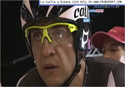 The face of a man who just wants to race.