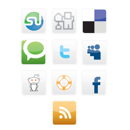 Free Vectors - 20 Free Social Bookmarking Icons