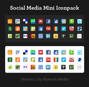 Social Media Mini Iconset