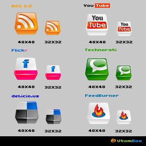 Web 2.0 Social Media Icons