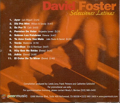 Cover Album of David Foster - Selecciones Latinas