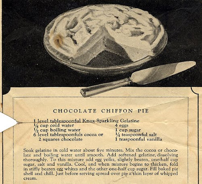 Chocolate Chiffon Pie Recipe — Dishmaps