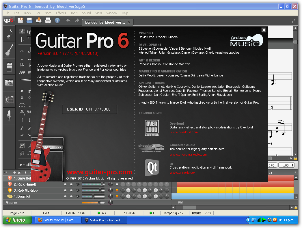 Guitar pro 6.0.7!! para windows + Soundbank