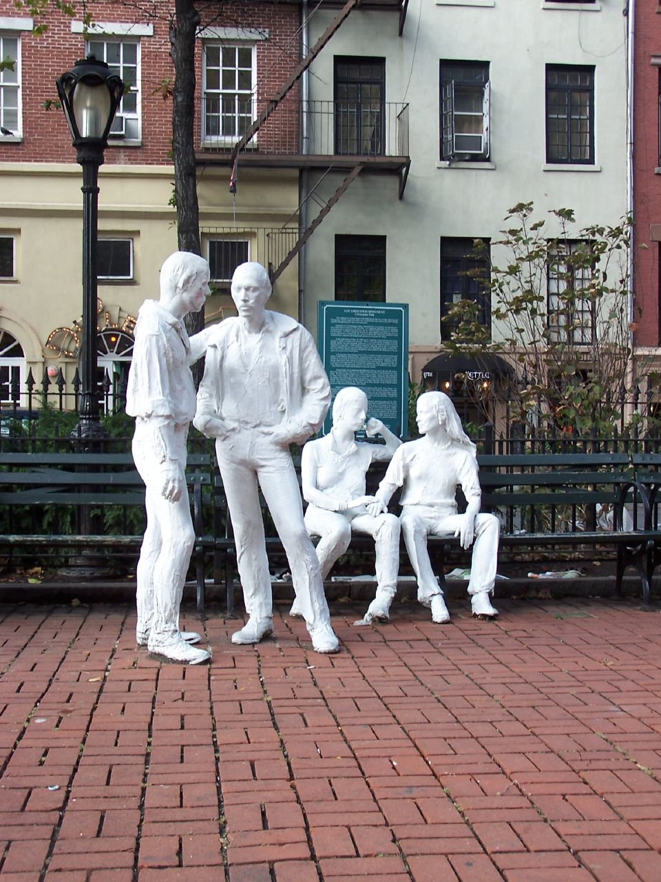 Gay Liberation Monument New York City 2006 animated lesbian oral sex