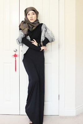 Maysaa Jersey Maxi Dress Hijab Style
