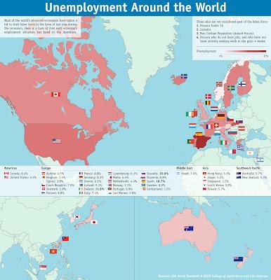 金融危機後の世界の失業率:インフォグラフィック