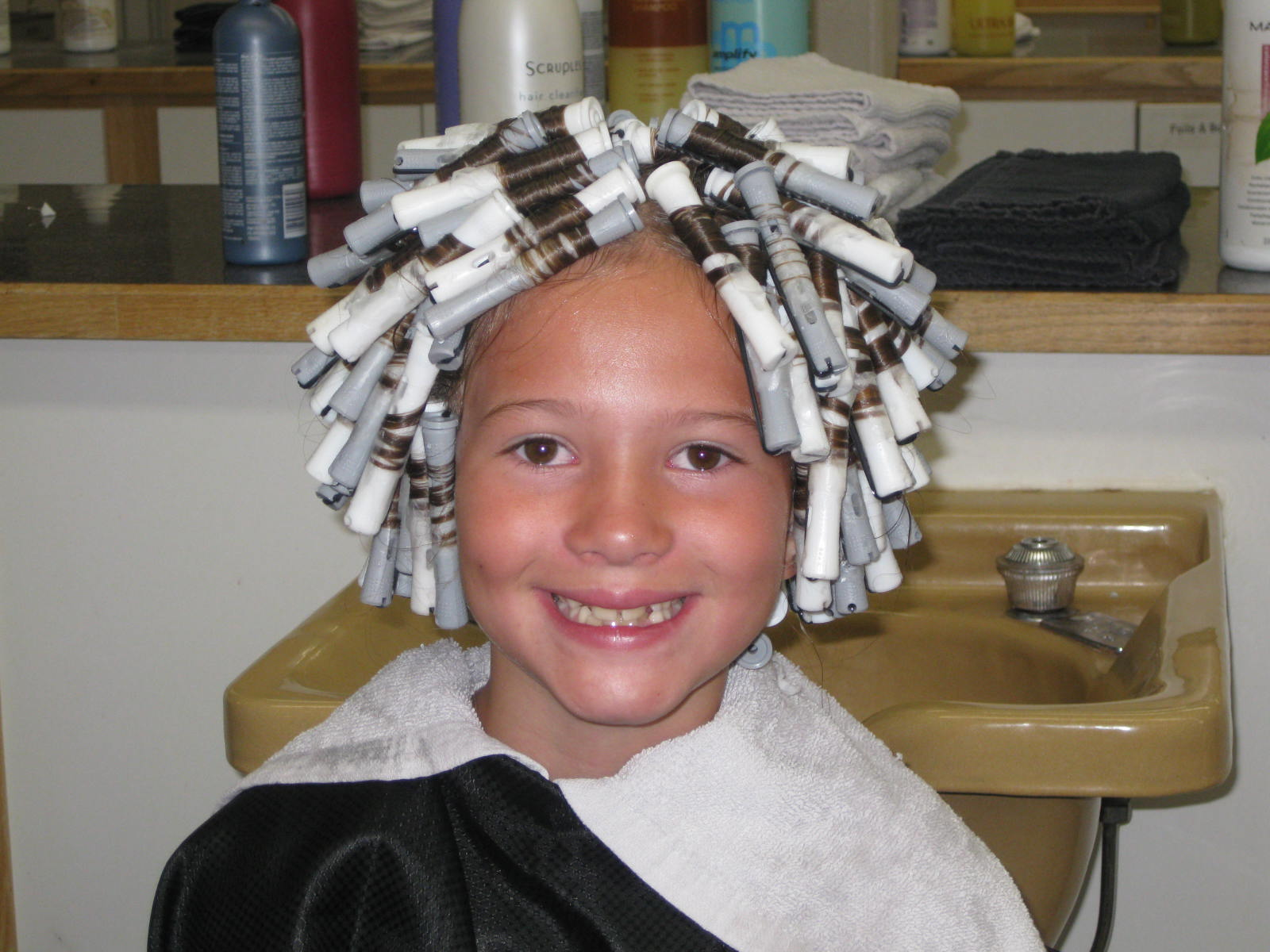 Little Boy Getting A Perm | hairstylegalleries.com