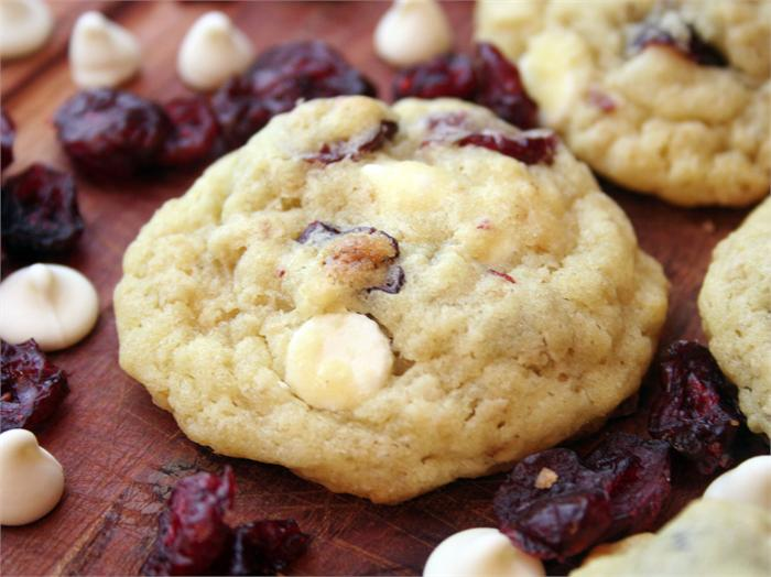 ... With Food: HEALTHY !!! White Chocolate Cranberry Cookies!!! YUM