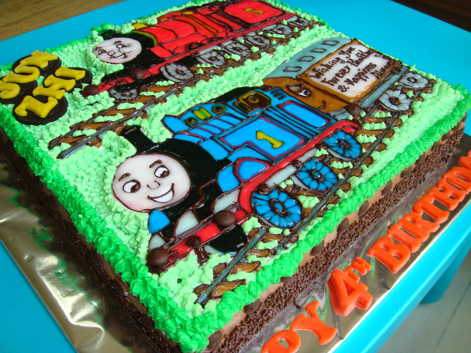 Yummy Baking Thomas The Train Birthday Cake D2