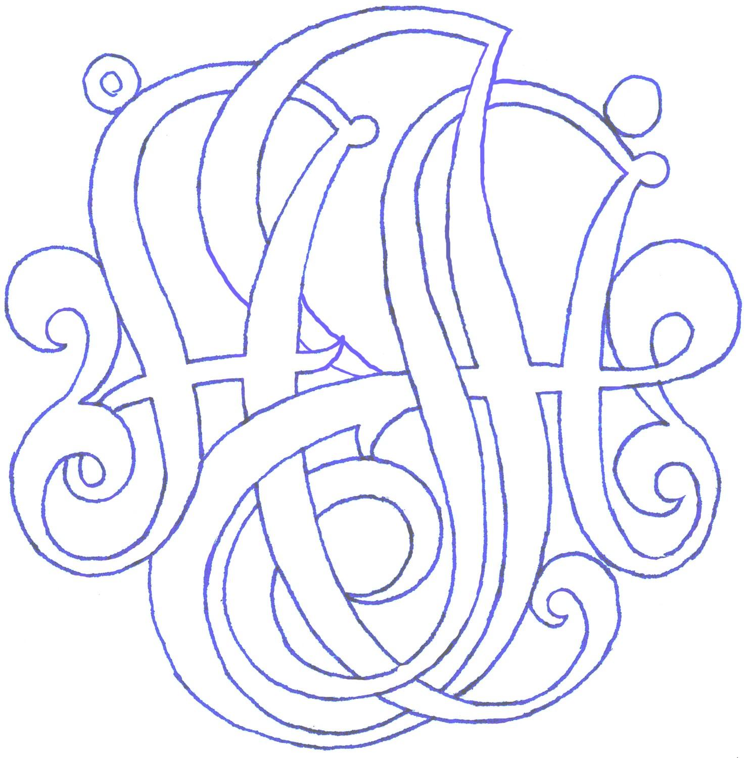Bunzie13 3 Monogram Pendant