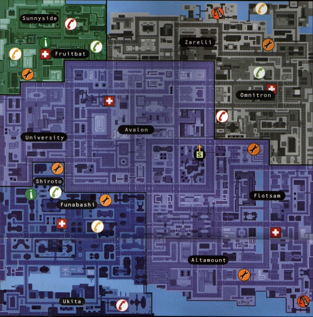 GTA 2 Downtown Map