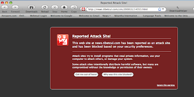 Spyware found on Tibetan website